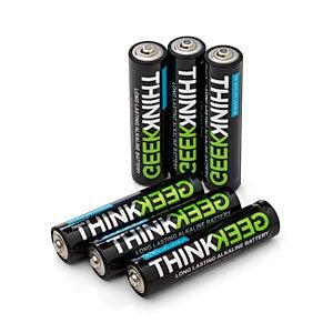 $0.99 Free Shipping!6-Pack ThinkGeek Super Monkey Powered AA Alkaline Batteries