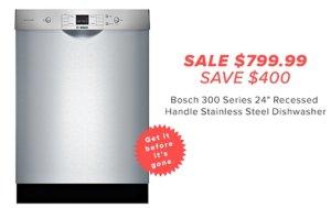 今日闪购最高立减$600($699.99起)精选Bosch 博世洗碗机