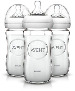 $14 Philips AVENT Natural 8 Ounce Glass Bottle 3 Pack