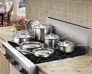 $204 Cuisinart MCP-12N Multiclad Pro Stainless Steel 12-Piece Cookware Set