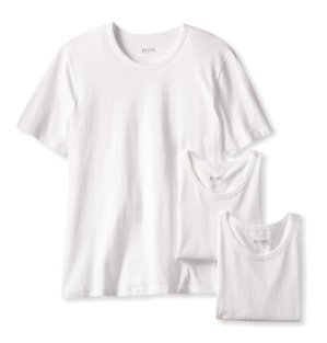 $18 BOSS HUGO BOSS Men's Cotton Crew-Neck T-Shirt (Pack of Three)