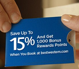 Up to 15% Off & 1,000 PointsBest Western Rewards Offer