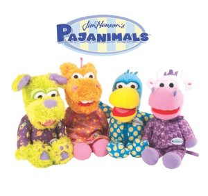 $25Set of 4 Jim Hensons Pajanimals Characters Plush Toy Dolls by TOMY - Large 15