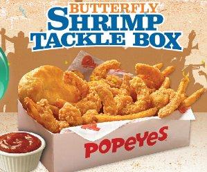 只需 $5Popeyes 大虾套餐 或 大虾和炸鸡套餐