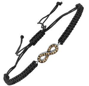 $19Infinity Macrame Bracelet with Swarovski Crystals