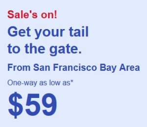 One Way As Low As $59Get your tail to the gate @ Southwest Airline