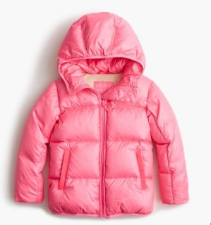 $25Big Girls' Marshmallow Puffer Jacket, Size 10-16