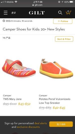 $32起Gilt精选Camper 童鞋热卖