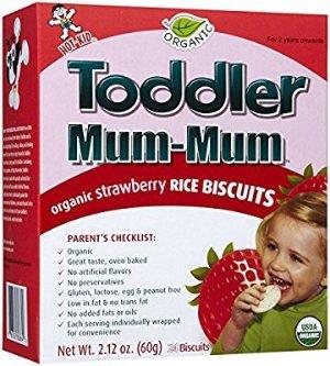 $0Baby Mum-Mum Rice Biscuits, Strawberry, 2.12 oz