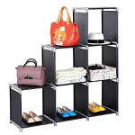 SONGMICS 3-tier Storage Cube Closet Organizer Shelf 6-cube Cabinet Bookcase
