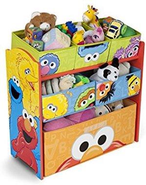 $24Delta Children Multi-Bin Toy Organizer, Sesame Street