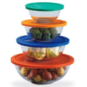 $16Pyrex 8-piece Mixing Bowl Set