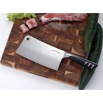 7 Inch Stainless Steel Chopper - Cleaver - Butcher Knife - Multipurpose Use for Home Kitchen or Restaurant by Utopia Kitchen