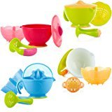 $4Nuby Garden Fresh Mash N' Feed Bowl with Spoon and Food Masher