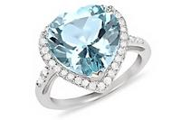 $657.38 CT Blue & White Topaz Sterling Silver Ring from Ice.com