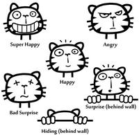 $1.29The Awesome Cat Emoticon Sticker