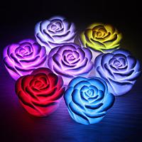 $2Romantic Rose Shaped 7 Colors Changing LED Night Light(3xAG13)