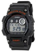 $23Casio W735H-8AVCF Men's Digital Vibration Alarm Black/Red Accents Watch @ MChrono