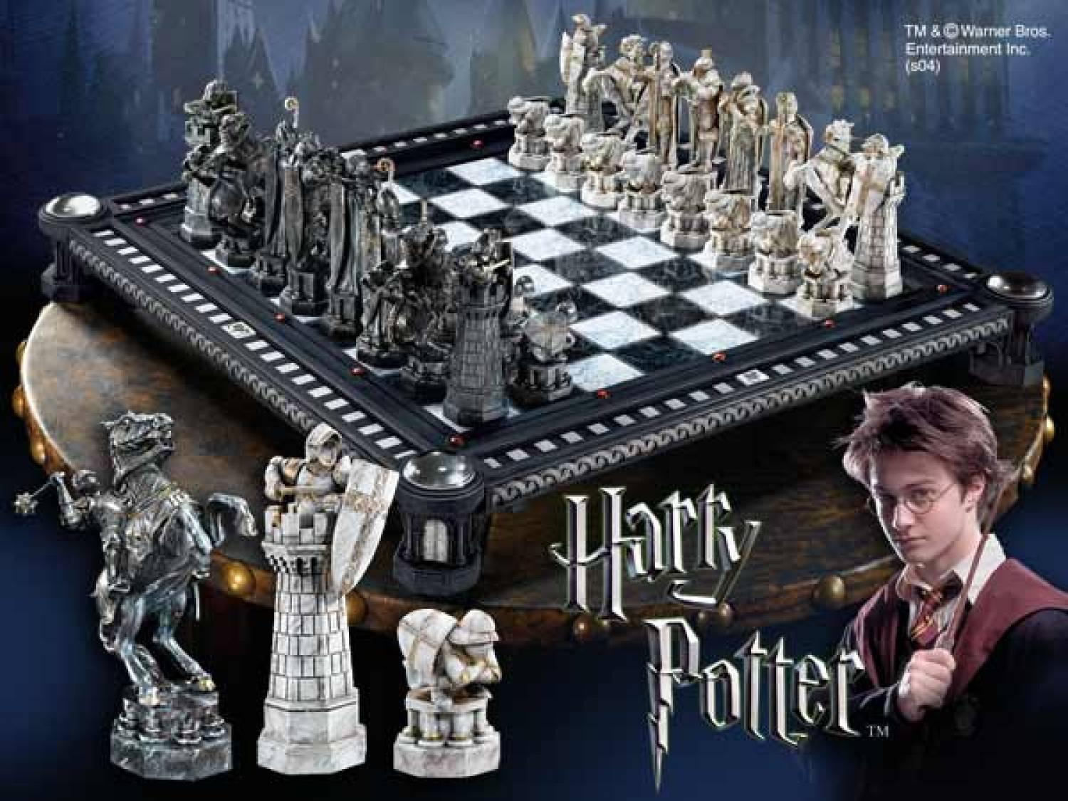 $345Harry Potter Final Challenge Chess Set by Noble Collection