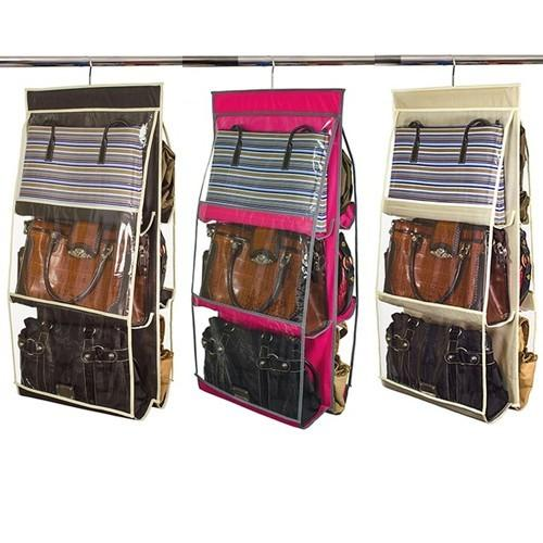 $7Home Collections 6 Pocket Hanging Purse Organizer