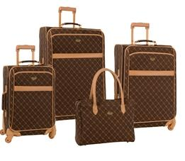$129Travel Gear Orion 4 Piece Spinner Luggage Set