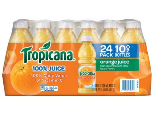 $13.49 Tropicana Orange Juice, 10 Ounce (Pack of 24)