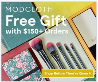 Free Mirror and Brush Setwith Any Order of $150 @ Modcloth