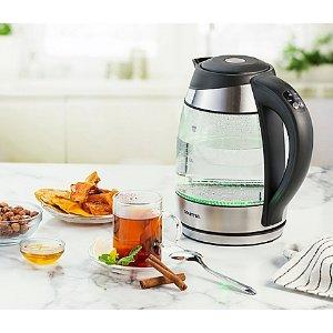 $27.99Gourmia® 2夸脱玻璃电热水壶,可保温,预设5种温度