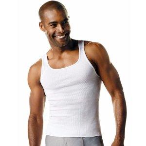 满$15就七折!低至$10.50Hanes 纯棉质地内衣裤 袜子 T恤超舒适