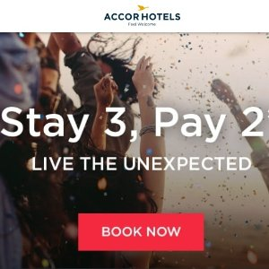Book 3 Get 1 FreeBook three nights for the price of two @AccorHotels