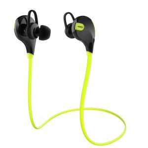 $16.99(原价$39.99)AUKEY运动防汗4.1蓝牙立体声耳机 -  黄绿色