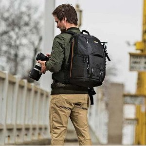 $76Lowepro Fastpack BP 250 AW II A Travel-Ready Backpack for DSLR and 15