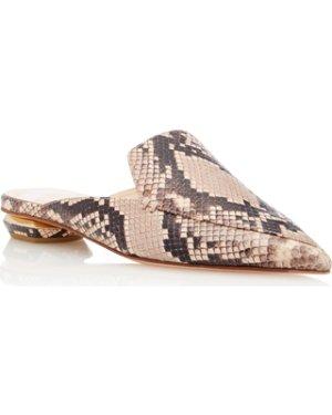 $224.8 + 免邮  36/37/38有货Nicholas Kirkwood 蛇皮穆勒鞋 黄金码速抢