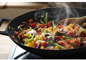 适合中国家庭炒菜锅$21.99(原价$76.99)史低价 Utopia Kitchen 12英吋铸铁炒锅