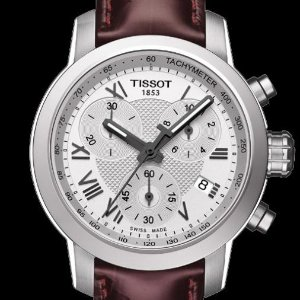 $199TISSOT Chronograph Silver Dial Ladies Watches 2 styles
