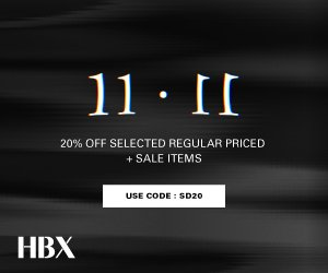 Extra 20% OffSale Items and Select Full Priced Items @ HBX