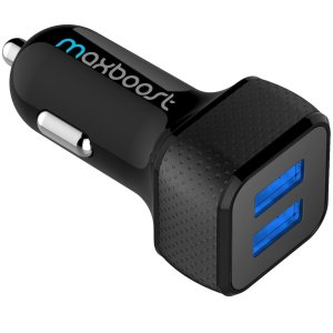 $7Maxboost 4.8A/24W 2 USB Smart Port Car Charger