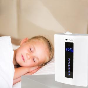 $89.99限今天:Avalon 超声波零噪音遥控冷暖两用喷雾加湿器