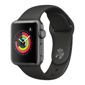 $329 + $60 Kohl's CashApple Watch Series 3 (GPS) 38mm Space Gray Aluminum Case with Gray Sport Band