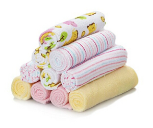 $5Spasilk Washcloths, Pink Hippo, 10 Count