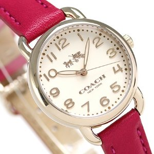 $88 (原价$250)史低价:Coach Delancey 系列镀玫瑰金时装女表