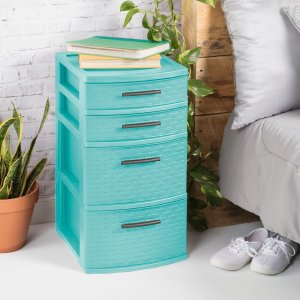 $13.494 drawer weave tower - Blue