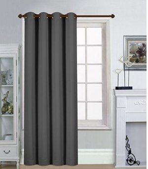 销量冠军 $13.99(原价$40.27)Utopia Bedding 遮光窗帘 - 灰色/蓝色可选