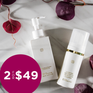 2/$49 ($96 Value) Lavender Cleansing Oil & Micro-foam Cleanser Sale @ Eve by Eve's