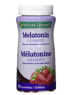 $5.69包邮Nature's Bounty 自然之宝褪黑素草莓味软糖60粒