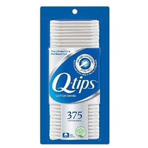 $2Q-tips Cotton Swabs, 375 ct