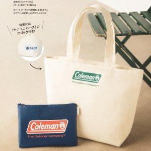 $8.3 / RMB53.4 直邮中美日本时尚杂志 In Red 3月刊 附录赠送 Coleman 子母帆布包两件套