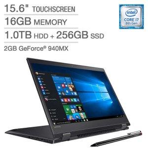 $999.99 独显4K屏Lenovo Flex 5 15吋4K 触摸屏笔记本(最新8代i7, 16GB, 1TB+256GB PCIe)