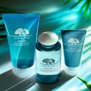 20% off ANY purchase+ super deluxe Mega-Bright cleanser on $45 Zero Oil Collection @ Origins