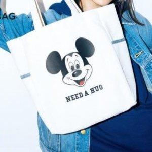 $7.3 / RMB47 直邮中美日本时尚杂志 mini 3月刊 附录赠送 Lee&Disney 合作款 米奇帆布包